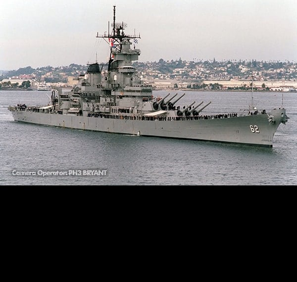 USS New Jersey Photo Shoot