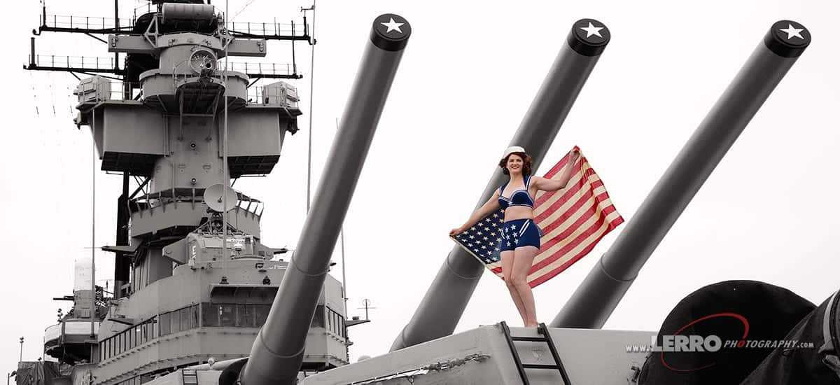 Battleship New Jersey Classic Pin Up Shoot